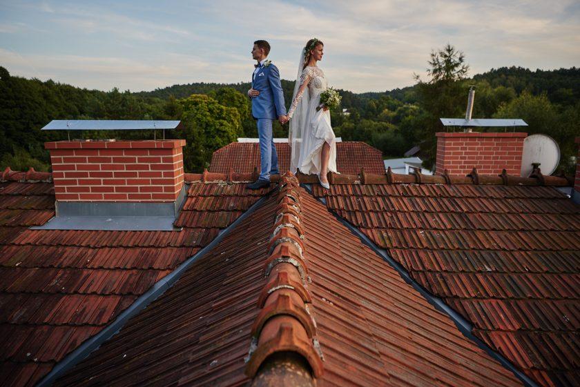 Sesja ślubna na dachu - w Gdańsku